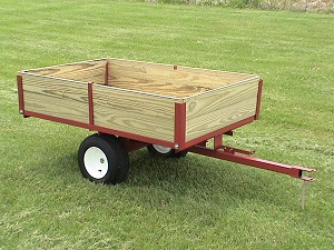 the heavy duty single axle utility garden trailer thats economical versatile model 5400 regular price 72900 sale special - Garden Tractor Trailer