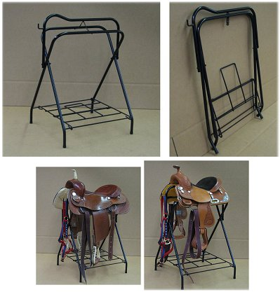 heavy-duty folding saddle stand made in the USA