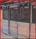 Horse Stalls support post style black steel